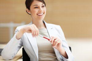 happy female professional executive